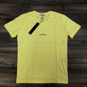 "Stone Island Men Yellow T-Shirt ""M"""